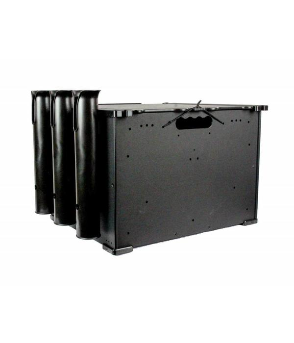 "Yak-Attack BlackPak 12"" x 16"" x 11"" Black Includes Lid And 3 Rod Holders"