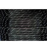 Yak-Attack USA Made 550 Paracord With Reflective Tracer Black (Per Foot)
