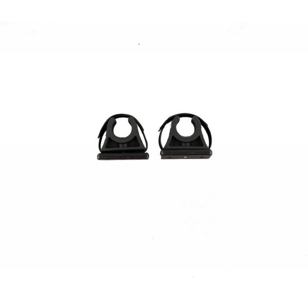 ParkNPole Rubber Clips With Deluxe Mounting Base Includes Hardware And Security Strap (Pack Of 2)