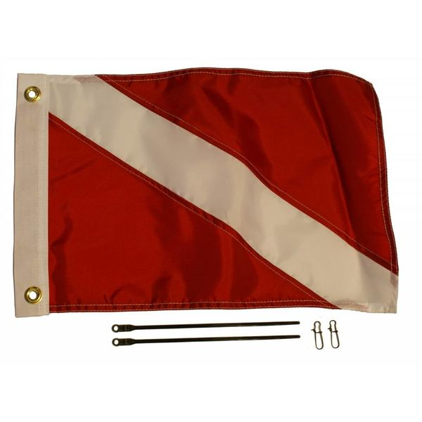 "12"" x 18"" Diver Down Flag Kit"