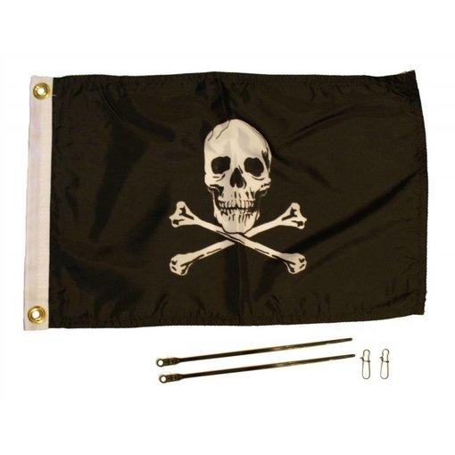 """Yak-Attack 12"""" x 18"""" Jolly Roger Flag Kit"""