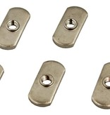 Yak-Attack Track Nut, 1/2'' wide, 1/4-20 threads, 18-8 SS, 6 pack