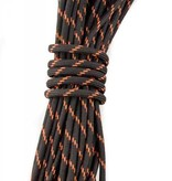 Yak-Attack USA Made 550 Paracord With Reflective Tracer Black/Orange 35'