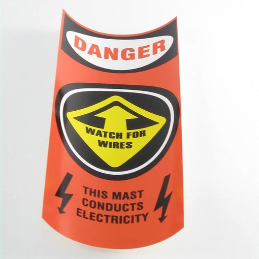 Hobie Orange Mast Caution Decal