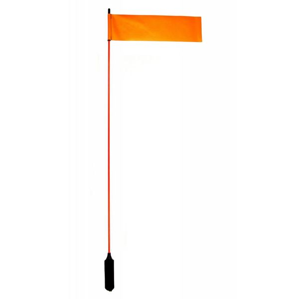 VISIFlag, 52'' tall mast with flag, Mighty Mount / GearTrac ready