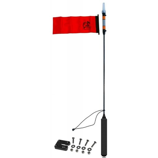 Yak-Attack VISIpole II Light, Mast, Floating Base Includes MightyMount And Flag