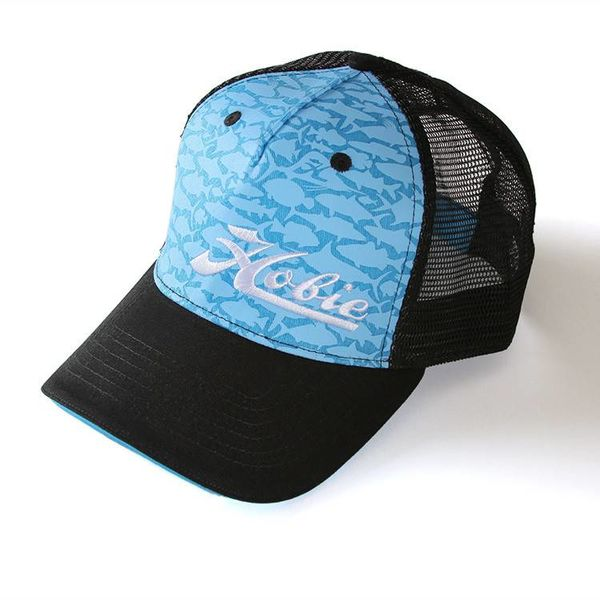 Hat Fish Pattern Blue/Black