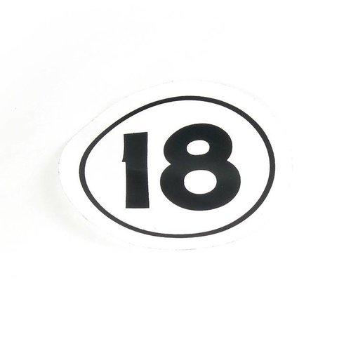 """Hobie Decal Sail """"H18"""" Class Insignia"""