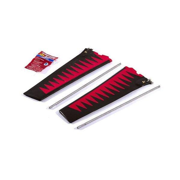 St Turbo Fin Kit Red/Blk V2