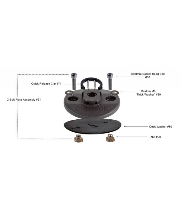 Chinook 2 Bolt Base Assembly Without Tool