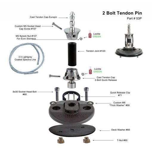 Chinook Mast Base 2-Bolt Tendon Europin