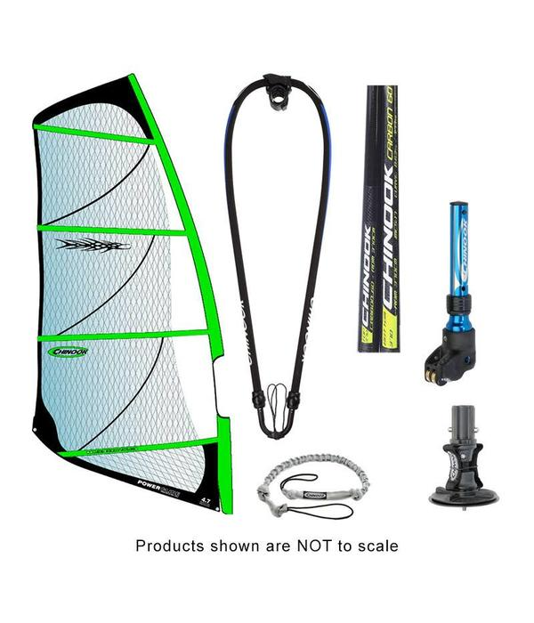 Chinook Power Glide Rig Pack With 60% Carbon Reduced Diameter Mast