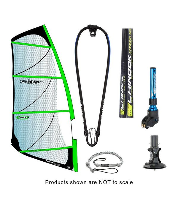 Chinook Power Glide Rig Pack With 40% Carbon Reduced Diameter Mast