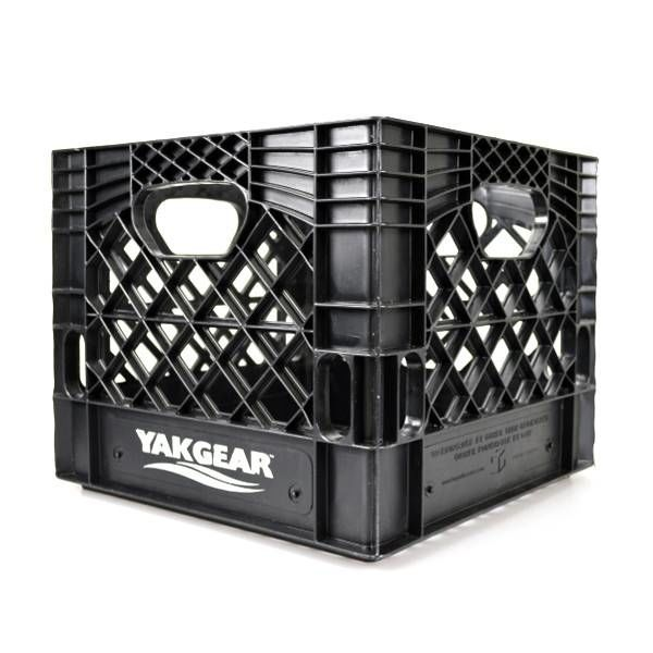 "Milk Crate Black 13"" x 13"""