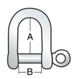 Harken Shackle D 1/4'' Pin (6mm)