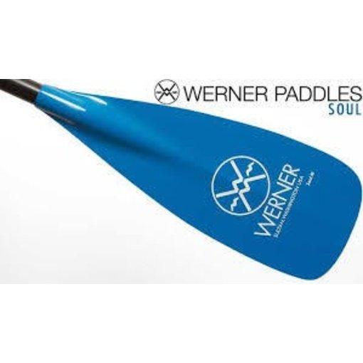 """Werner Paddles (Discontinued) Paddle Soul Adjustable Blade 74-81.5"""" Fiberglass"""