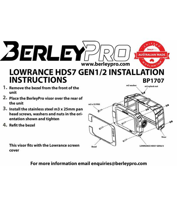 BerleyPro Lowrance HDS 7 Gen 2/3 Sun Visor
