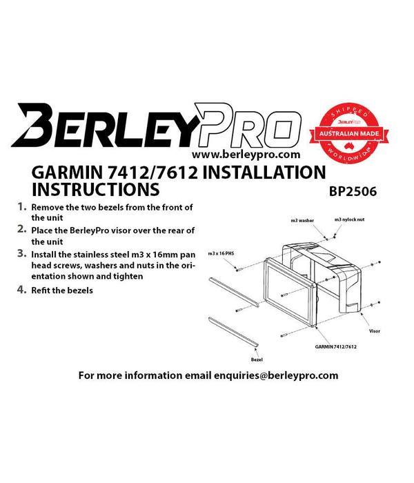 BerleyPro Garmin™ 7412/7612 Visor