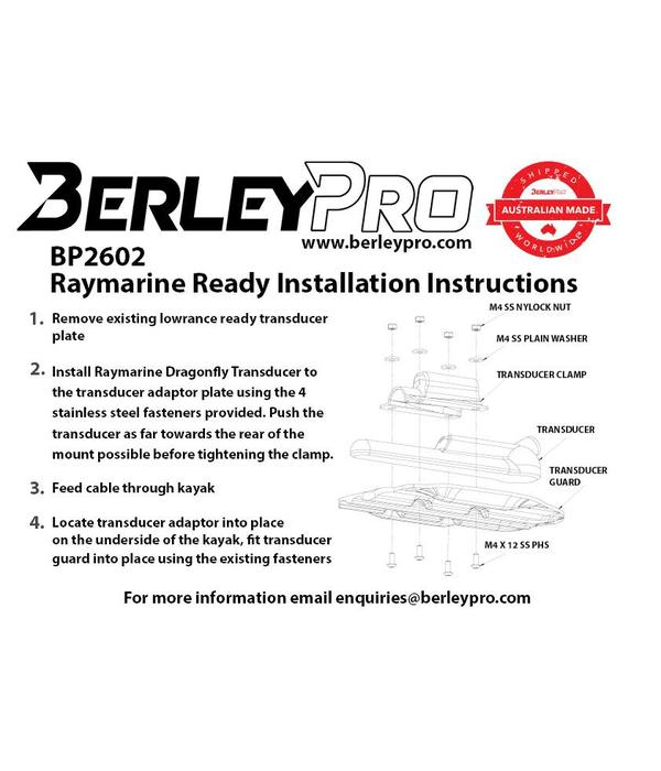 BerleyPro Raymarine Ready Transducer Mount