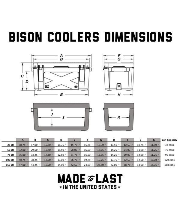 Bison Outdoors 50 QT Hard Cooler