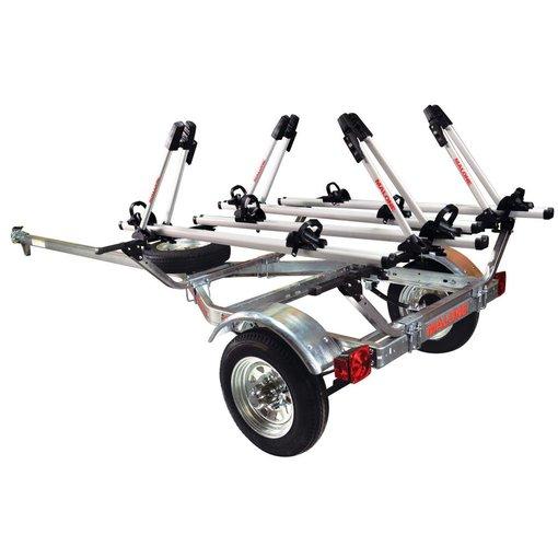 Malone MicroSport Trailer 1-Spare Tire Kit, 4 Tray Style Bike Racks