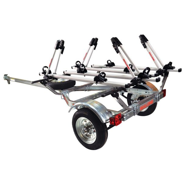 MicroSport Trailer 1-Spare Tire Kit, 4 Tray Style Bike Racks