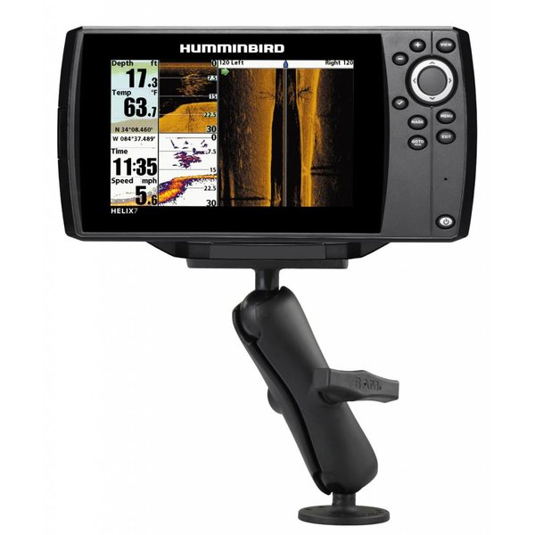 """1.5"""" Ball Mount With 2.5"""" Round Base & 2"""" x 4"""" Plate For The Humminbird Helix 7 Only"""