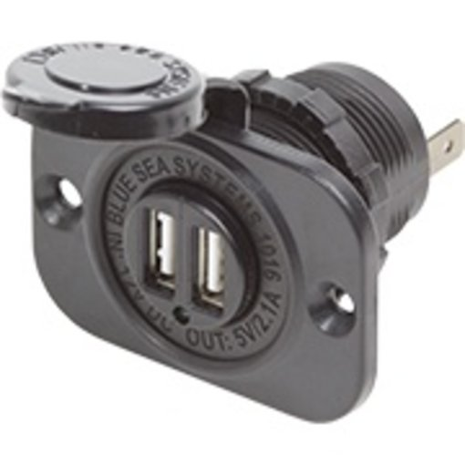 Blue Sea Dual USB Charger Socket 12VDC 2.1A