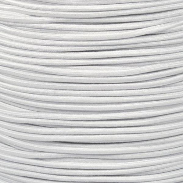 "Shock Cord White 3/16"" (By Foot)"