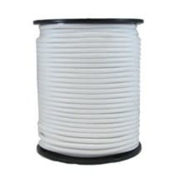"""Shock Cord 1/8"""" White (By Foot)"""