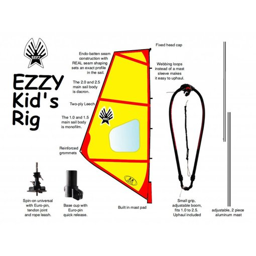 Ezzy Sails (Prior Year Model) Kids Rig Pack 1.0 And 1.5