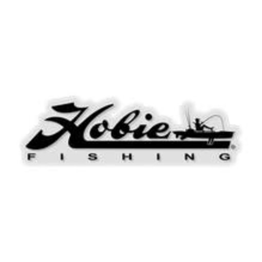 "Hobie Decal ""Hobie Fishing"" Black 12"""