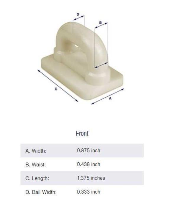 Bainbridge Internal Flat Sail Slides - Plastic (Pack of 5) 7/8''