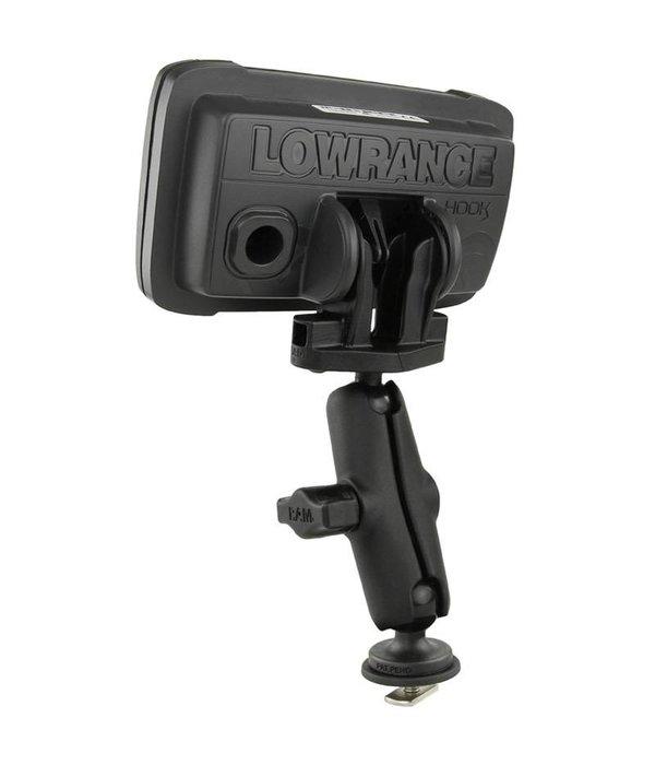 "RAM Mounts Lowrance Hook2 Series 4X & 5 1"" Track Ball"