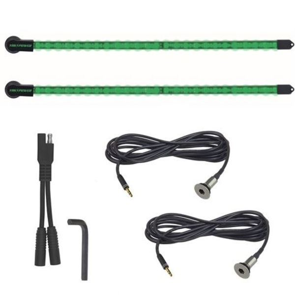 2-Piece LED Light Kit Green 20""