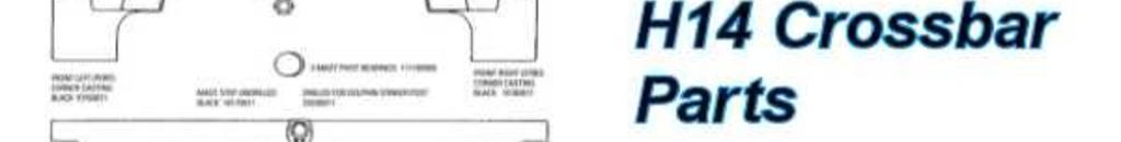 Hobie 14 Front Crossbar & Sidebar Parts