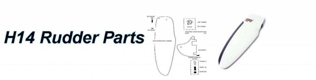 Hobie 14 Rudder Parts