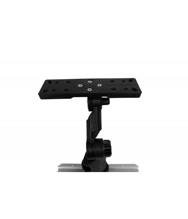 Yak-Attack Rectangular Fish Finder Mount With Track Mounted LockNLoad Mounting System