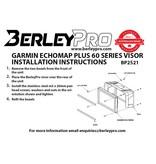 BerleyPro Garmin™ Echomap 62/63/64/65 Plus or UHD Series Visor