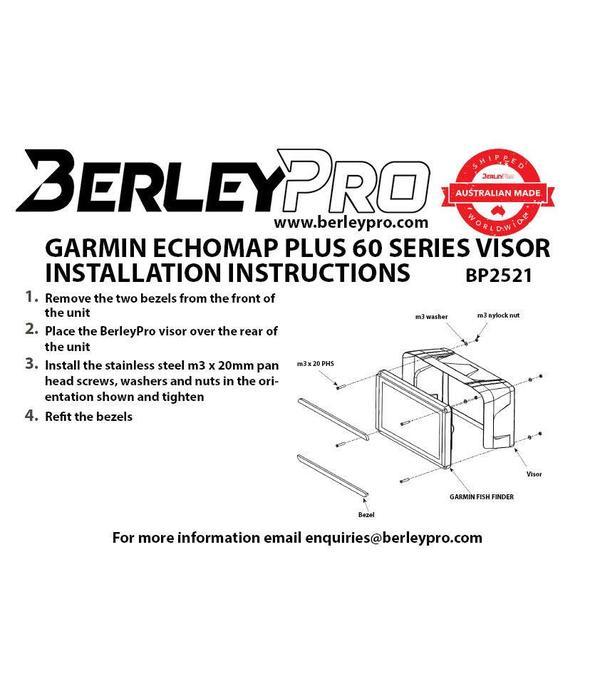 BerleyPro Garmin ECHOMAP 60 Plus Series Visor