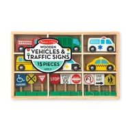 Melissa & Doug Melissa & Doug Wooden Vehicles & Traffic Signs