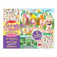 Melissa & Doug Melissa & Doug Scratch & Sniff Sticker Pad - Floral Fairies