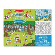 Melissa & Doug Melissa & Doug Color-Your-Own Sticker Pad Animals