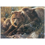 Cobble Hill Puzzles Cobble Hill Grizzly Family, Family Puzzle 350pcs