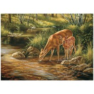 Cobble Hill Puzzles Cobble Hill Deer Family, Family Puzzle 350pcs