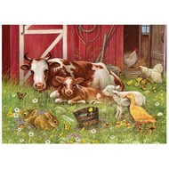 Cobble Hill Puzzles Cobble Hill Barnyard Babies Family Puzzle 350pcs