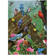 Cobble Hill Puzzles Cobble Hill Wildbird Gathering Tray Puzzle 35pcs