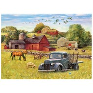 Cobble Hill Puzzles Cobble Hill Blue Truck Farm Tray Puzzle 35pcs