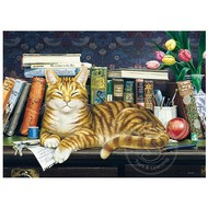 Cobble Hill Puzzles Cobble Hill Well Read Ginger Tray Puzzle 35pcs