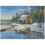 Cobble Hill Puzzles Cobble Hill Winter Cabin Easy Handling Puzzle 275pcs